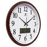 Große Mute-Wanduhr mit Kalender Stummgeschaltete Zeckenfreie Uhr. Hochwertige Batteriebetriebene...