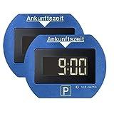 2x Park Lite elektronische Parkscheibe digitale Parkuhr blau mit offizieller Zulassung - 2 Stck Set