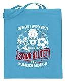 shirt-o-magic Fuballer: Beim Fussball wird nicht geheult - Jutebeutel (mit langen Henkeln)...
