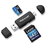 Philonext Speicherkartenleser, SD/Micro SD Kartenleser und Micro USB OTG auf USB 2.0 Adapter mit...
