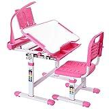 Forfar Kids Study Desk and Chair Set mit höhenverstellbarer Lampe mit EU-Stecker Schreibtisch und...