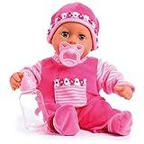 Bayer Design 93825AA Babypuppe First Words, Schlafaugen, spricht 24 Babylaute, weicher Körper, mit...