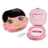 Mr.LQ Baby-Zahn-Box Save Organizer Zahn-Fee-Box Erste Zahn und Lanugo Keepsake Organizer-Boxen,Pink