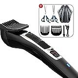 Haarschneidemaschine, Professionelle Akku-Haar Clipper wiederaufladbare Haar-Ausschnitt-Scheren-Set,...