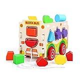 GAO SHOP Hölzerne Bausteine Spielzeug Intelligenz Box Farbe Form Classifier Puzzle...