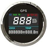 ELING Digital GPS Tachometer Einstellbare Kilometerzähler Für Boot Yacht Motorrad Auto 2 zoll...