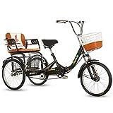 ZNND Tricycle for Adults Erwachsene Dreiräder Single Speed Lastenfahrrad Adult Trikes 20inch 3...