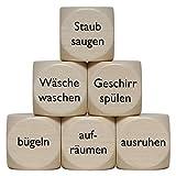 """Haushalts"" Holzwürfel 30 mm - 1 Stück"