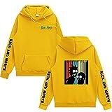 Männer Hoodies Sweatshirt Einfarbig Rick Und Morty 3D-Druck Pullover Mantel Herren Kleidung Hip-Hop...