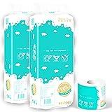 Way bocke Toilettenpapier, 20 Rollen Toilettenpapier, 4-lagige Toilettenpapierrolle, Seidig Weiches...