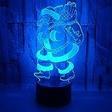 Sproud Weihnachtsmann - E 7 Farben Touch 3D Beleuchtung Nachtlichter/USB Warm...