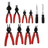 SovelyBoFan 11 Stücke Mechaniker Sicherung Ringe Werkzeuge Sprengring Hardware Zangensatz Korrosion...