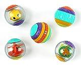 Bright Starts Shake & Spin 5 leicht greifbare Spielbälle die rasseln, kreiseln, klicken und vieles...
