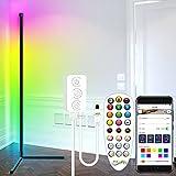 Stehlampe,Standleuchte Farbwechselnd LED Stehlampe RGB Dimmbar mit Fernbedienung Eck Stehlampe...