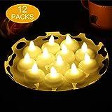 flintronic 12 Stück LED Flameless Kerzen, Led Teelichter Flackernde Flamme Lichter Batterie...