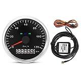Vobor GPS Tachoanzeige - 85mm 120km / h 12V / 24V Motorrad GPS-Geschwindigkeitsmesser-Digital-IP67...