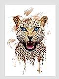 Geiqianjiumai Niedlichen Tierdruck Panda br und Wolf Tiger Haustier leinwand malerei Poster...