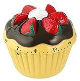 Zenker Kurzzeitwecker, Ø 70 mm Cupcake Patisserie, Küchenwecker aus robustem Kunststoff,...