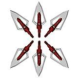 Mangobuy Pfeilspitzen 100 Korn Jagdspitzen 2 Klingen Anzug Pfeil 6er Pack (Rot)