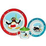 Geschirr _ Artikel & Motivwahl _ 3 TLG. Kindergeschirr - Melamin - Kinderteller + Suppenteller /...