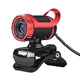 BUY-TO HD Webcam USB-Kamera Videoaufzeichnung Web 480p mit Mikrofon Fr PC Computer,red