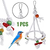 LOOEST Vogelpapageienspielzeug, Bunte 1PC Vogel Parrot Ring Cotton Hanging Cage Seil for Papageien...