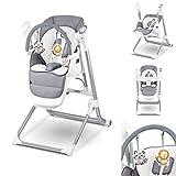 Lionelo Niles 2in1 Hochstuhl Baby und Baby Wippe, Mobile-App-Steuerung, verstellbare Rückenlehne...