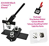 ChiButtons (Kit) 32 mm (1 1/4 Zoll) Pro Badge Maschine Button Maker-B400 + Form + 200 Teile +...