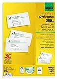SIGEL LP800 Visitenkarten 3C, 100 Stück (10 Blatt), hochweiß, glatter Schnitt rundum, 250 g, 85x55...