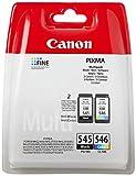 Canon Tintenpatronen PG-545 + CLI-546 BK/C/M/Y Multipack schwarz + Farbe 8ml + 9 ml ORIGINAL für...