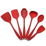 Silikon-Spatel Kochgeschirrset 6-TLG. Silikon-Küchengeschirrset BPA-frei Silikon-Küchengeschirrset...