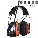 PROTEAR Gehörschutz mit Bluetooth/DAB/DAB + FM Radio, wiederaufladbare Gehörschutzkapsel mit...