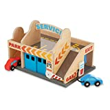 Melissa & Doug Service Station Parking Garage (Vehicles, Functional Elevator, Easy to Carry, 6...