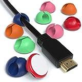 Noblik 10x Kabelclips zur Kabelbefestigung elastisch & selbstklebend I Kabel Befestigungsclips...