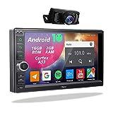 2din Android Autoradio mit Rückfahrkamera,Doppel Din Display Radio mit Navi Bluetooth...