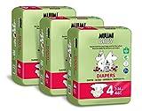 Muumi Baby Öko Windeln Größe 4, 7-14 kg, 138 Empfindliche Premium Windeln Monatsbox