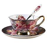 KTDT High Tea Water Cup Geschirr European Ceramic Coffee Cup Set Wiederverwendbare Espressotassen...