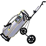 HLR Golftrolley Zieh Golfcarts Golf Pull Wagen Adjustable Golf Trolley Cart 2 Räder Push-Pull-Golf...