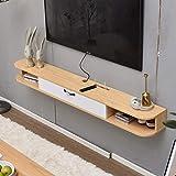 Schwimmdock Regal Wand befestigte TV-Stnder Moderne Wandhalterung TV Storage Console Media Console...
