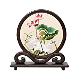 UUMFP Kleine Folding Screens Su Stickerei Handmade Doppel EmbroideryHome Dekoration...
