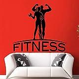 ASFGA Fitness Club Aufkleber Fitness Poster Wandaufkleber dekorative Wandbilder Fitness Sport...