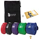 SUPERLETIC Powerbands, Widerstands-Fitness-Bänder, Pullup und Resistance-Training, 5 Stärken, rot,...