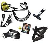 BodyCROSS Premium Schlingentrainer mit Umlenkrolle für zuhause| Türanker, Befestigung, Poster &...