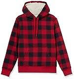 Amazon Essentials Sherpa Lined Pullover Hoodie Fashion-Sweatshirts, Schottenkaro, Rot, US (EU...