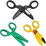 Winfred Kinder Sicherheit Schere, 3 Stück Kinderschere Sicherheitsschere, Papierschere Bastelschere...