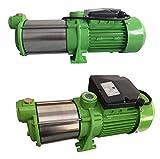 INOX Edelstahl Gartenpumpe Kreiselpumpe HMC170-6SH 2100 Watt Förderhöhe: 78m Max. Druck: 7,8 bar...