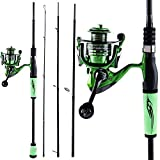 NYKK Angelrute Angelrute und Angelrolle Carbon-Faser-Fischerei-Pole Spinning Reel for Bass Fishing...