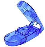 Deluxe-Pillenschneider mit eingebautem Tablettenetui, verwendet eine starke Edelstahlklinge,...