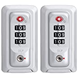 (YF-S053#) Ein Paar/Set Ersatz-Passwortschloss für Gepäck Koffer Reisekoffer Passwort-Box...
