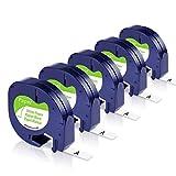 Unistar Kompatibel Etikettenband als Ersatz für Dymo Letratag 12mm x 4m Papier 91220 91200 S0721520...